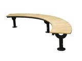 弧形无靠背休闲长椅
