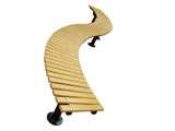 曲线形休闲长椅