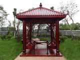 四角圆柱拱门凉亭