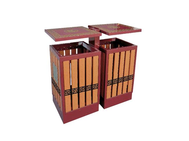 塑木别墅分类垃圾桶_长沙多威体育用品有限公司