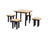 钢芯环保木休闲桌椅