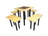 高级钢芯环保木桌椅