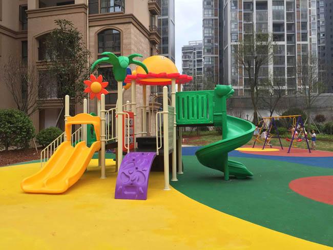 湘潭金桥城儿童滑梯安装实例