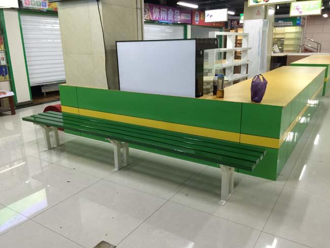生鲜市场休闲凳安装实例