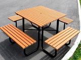 防腐木休闲桌椅套装